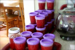 finished product: strawberry freezer jam
