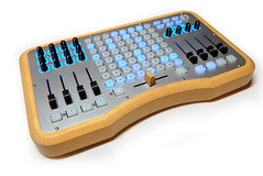 Ohm64 with lights side (livid instruments) Tags: wood diy dj vj led software usb midi instruments ohm livid powered ohm64
