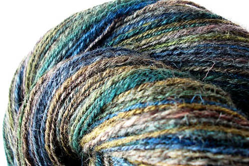 Kettle dyed Jacob Humbug 1- 3.5oz by Shunklies- 323yds navajo plied-5