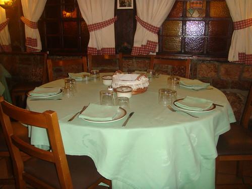 Detalle de mesa redonda