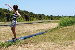 (waffleslayer) Tags: portrait selfportrait girl field freedom wind tubes skirt breeze fayestrawn waffleslayer nikdon3000 thewafflemotif