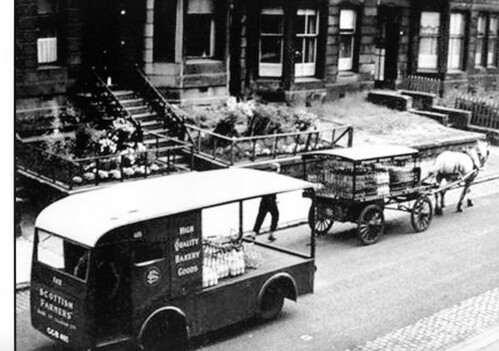 Milk Carts Finley Drive 1955