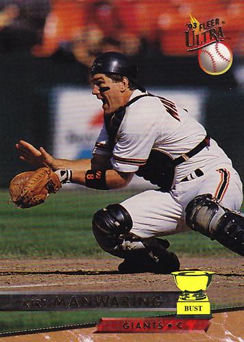 Baseball Card Bust Kirt Manwaring 1993 Fleer Ultra