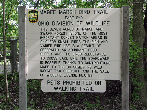 Magee Marsh East End Sign