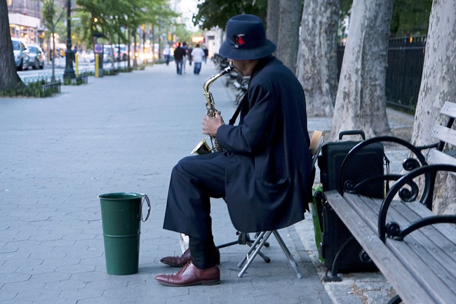 Sax Player, UWS