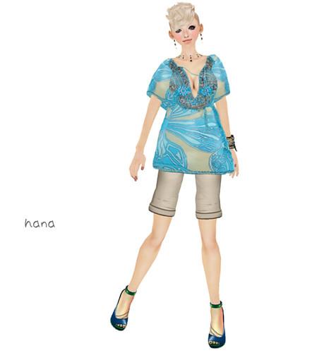 .::PiCHi::. SilkTunic Blossom [Turquoise](50L)