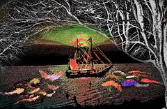 Sailing the South Seas (Rusty Russ) Tags: new trees arizona france photoshop real island yahoo google flickr paradise pacific image dolphin south plum palm filter montage tahiti mermaid newsroom seas facebook zeland stumbleupon windjamer