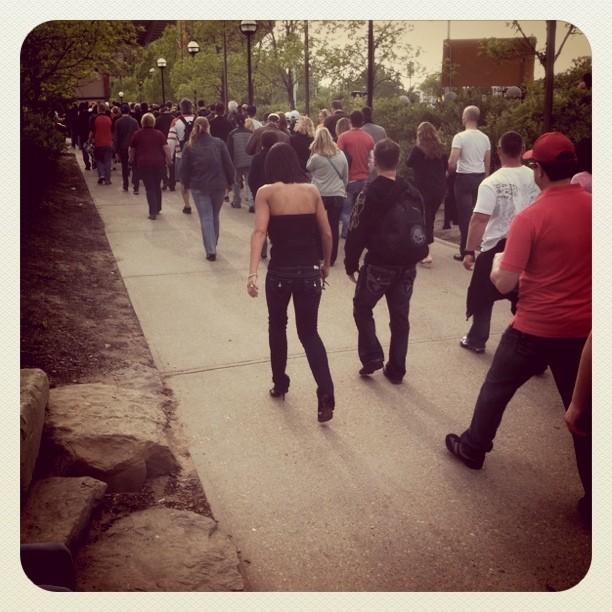 U2 crowds.