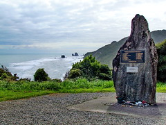 Strongman mine disaster monument, near Greymouth, New Zealand (Yvon from Ottawa) Tags: newzealand rescue monument memorial mine explosion mining tragedy disaster southisland coal strongman greymouth lossoflife pikeriver