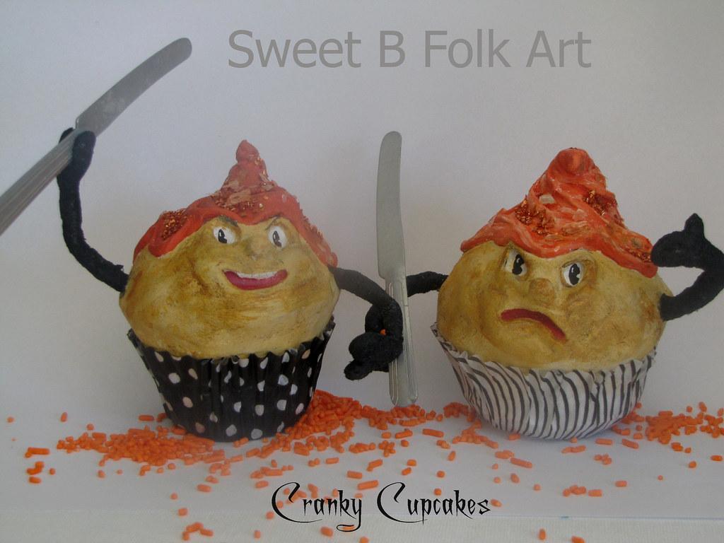 Cranky Cupcakes by Sweet B FOlk Art