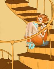 stairsgirl WIP (Jem Yoshioka) Tags: library ophelia otherwalls