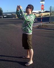 Joshua Green Wearing Board Shorts and Flip-Flops (alist) Tags: phoenix joshuagreen alicerobison braghettoni