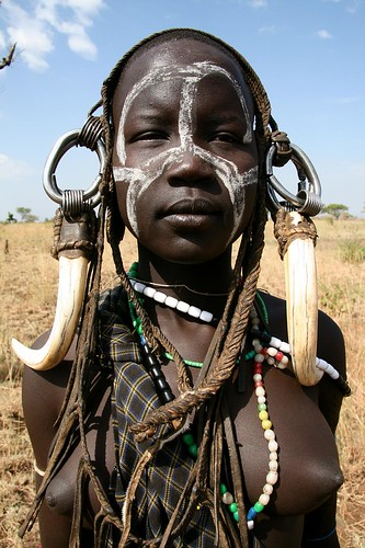 naked mursi tribe Girl