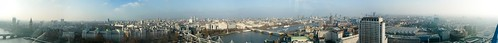 Panoramic London from the Eye