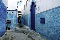 Rabat medina (RvDario) Tags: africa door blue urban woman alley northafrica arabic clean morocco berber arab maroc medina serene arabian moroccan rabat blueish المملكةالمغربية almaġrib