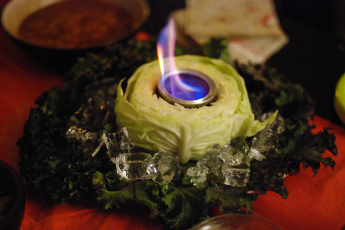 Fire And Ice Cabbage Centerpiece