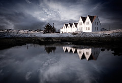 Straumur Art Center (Villi.Ingi) Tags: winter sea sky house lake reflection nature clouds canon landscape outdoors iceland outdoor dramatic artcenter 1020mm reykjavk sigma1020mm straumur pipc dapa straumsvk 40d dapagroupmeritaward platinumheartawards dapagroupmeritaward2 vosplusbellesphotos w100f