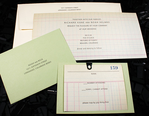 Letterpress Invitation: N / R