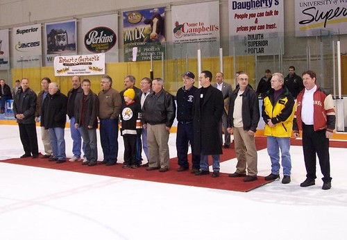 UW-Superior honors 1976 national hockey champs