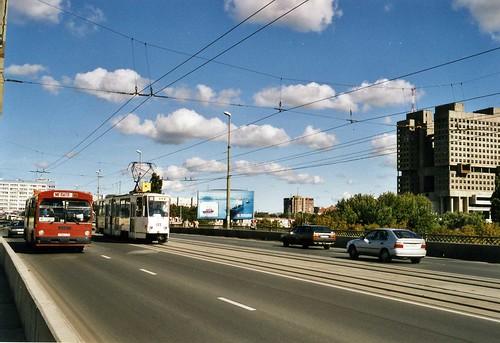 Калининград Kaliningrad 2003 - Tatra  KT4 tram 411 ©  sludgegulper