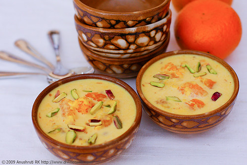 Komola Kheer/Orange Kheer/Creamy Milk Pudding With Juicy Oranges