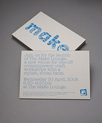 Make Lounge Invite | Design Friendship (bobeightpop) Tags: screenprint invite a5 materials bep onecolour themakelounge designfriendship bobeightpop cairnboard 2000micron