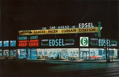 Simeon Edsel Co., Columbus Ohio (aldenjewell) Tags: signs sign neon edsel columbusohio neonsigns cardealershipshowroom