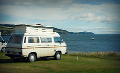 My favourite spot (Uncle Berty) Tags: uk camping sea camp england black vw club volkswagen coast site van berty camper brill bucks isle rosemarkie smalls t25 caravaning t30 hp18 robfurminger