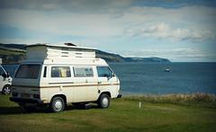 My favourite spot (Uncle Berty) Tags: uk camping sea camp england black vw club volkswagen coast site van berty camper brill bucks isle rosemarkie smalls t25 caravaning t30 hp18 robfurminger