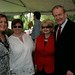 Hilary Rosen, Ellen Malcolm, Shelley and Patrick Buchanan