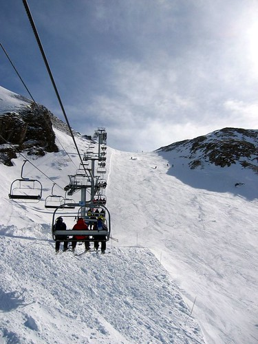 Ski lift at Deux Alpes.