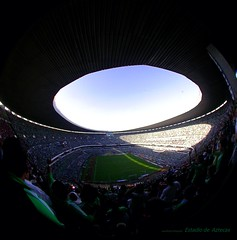 "Estadio de  Aztecas ""El Gol"" (toltequita) Tags: city verde mexico mexicocity foto soccer selection estadio fotografia mundial futbol fmf sesiones azteca estadioazteca clasificacion laverde futboleras toltequita juanrojo juanrojotoltequita seleccionmexicanadefutbolsoccer estadioezteca"