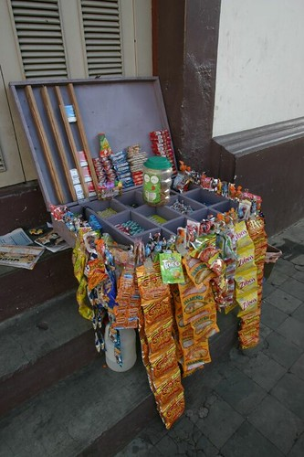 Street vendor outfit, León, Nicaragua.