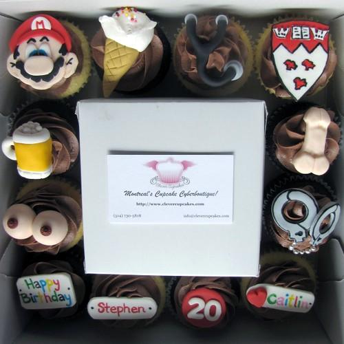 20th Birthday Cupcakes