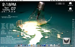 Lightbulb Desktop (zackshackleton) Tags: mac osx stocks magnifique adium geektool lifehacker customize yahoowidgets lifehackercom coversutra customdesktop custommac lifehackerdesktoppool