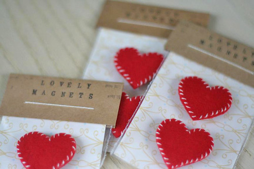 felt heart magnets!
