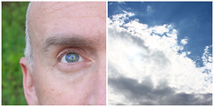 136/365 - Looking to Heaven (HughesOnTheNet) Tags: selfportrait eye me clouds easter diptych heaven brian prayer bluesky 2009 365days canoneos450d canonefs1855mmf3556is canoneosdigitalrebelxsi