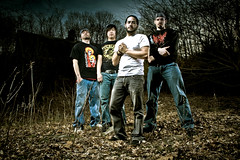 Eschaton (Petey Photography   fortysixtyphoto.com) Tags: trees leaves woods oldhouse eschaton alienbees bandpromo b800 strobist bandpromotional vagabondii peteyphotography wwwpeteyphotographycom