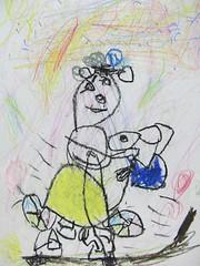 20081229-yoyo畫自己騎兩輪腳踏車