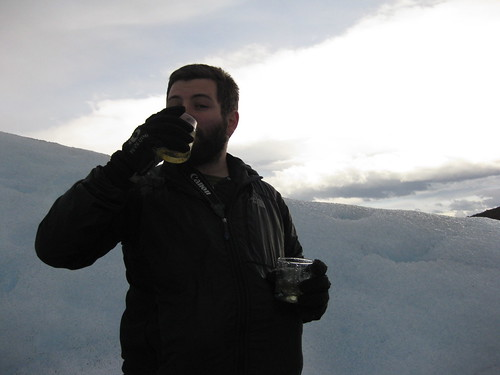 whiskey on the rocks. Glaciar Perito Moreno