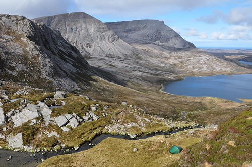 Arkle and Loch an Easian Uaine from above camp