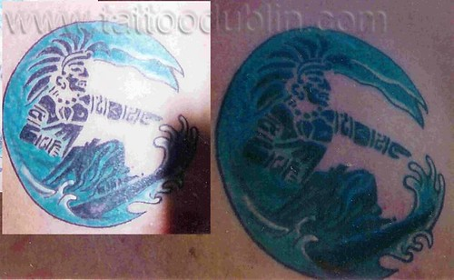 mayan surfer tattoo by tattoodublin.com