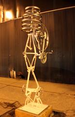 April 24, 2009 (CAPow!) Tags: sculpture art bike frame rims crank