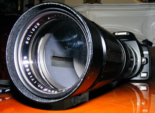 Soligor 90-200mm Zoom, f4.5, On Canon 350d Rebel XT