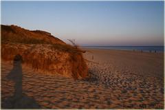 Me waiting for the sun to set (Kirsten M Lentoft) Tags: sunset shadow sky beach water sand northsea vesterhavet blåvand blaavand worldbest theunforgettablepictures theperfectphotographer kirstenmlentoft