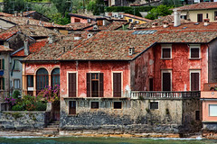 Toscolano-Maderno, Lake Garda, Italy (sminky_pinky100 (In and Out)) Tags: life flowers windows red italy lake tourism water pretty purple rustic scenic villa shutters picturesque lakegarda trave personalbest toscolanomaderno 5photosaday omot citrit eyejewel betterthangood theperfectphotographer hccity