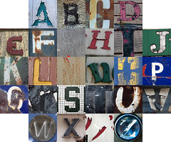 Dilapidated letters