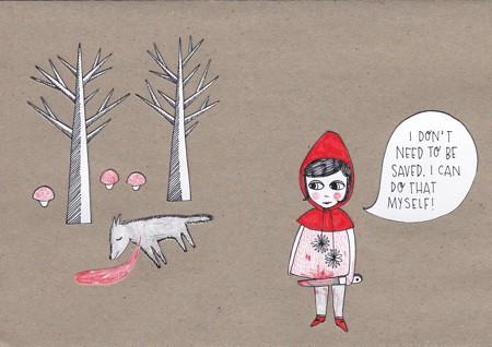 Ein schneidiges Rotkäppchen hat Frl. Zucker für die Mädchenmannschaft entworfen