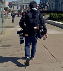 Freelancer..? (Filipinoise) Tags: two canon bay is san francisco gear center 3g area civic 28 shoulder 70200 bodies iphone