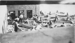 1927 - Men in Boats at Cary Food Supply (tinkerbrad) Tags: old railroad people house film river mississippi photo flood delta national disaster mississippiriver riverboat depot emergency livestock cary levee 1927 1927flood great1927flood